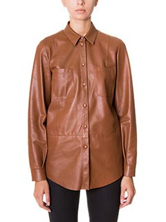 Drome-brown leather shirt