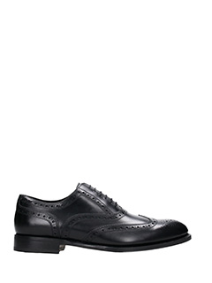 Dsquared 2-Stringate Missionary Oxford in pelle nera