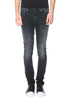 Neil Barrett-Jeans Skin Fit Regular in denim nero