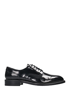 Dsquared 2-Stringate Gentleman in pelle spazzolata nera