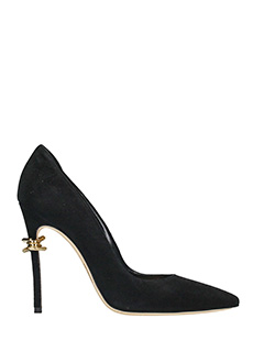 Dsquared 2-babe wire  black suede pumps