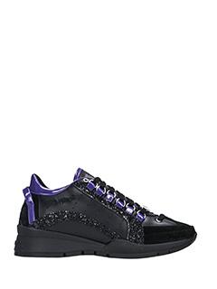 Dsquared 2-Sneakers 551 in pelle e camoscio nero