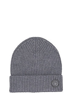 Dsquared 2-Cappello Knit in lana grigia