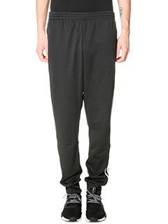 Adidas-Pantaloni Cuffed Tp  in cotone nero