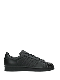 Adidas-s.star glossy t black leather sneakers