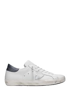 Philippe Model-Sneakers basse Classic in pelle bianca