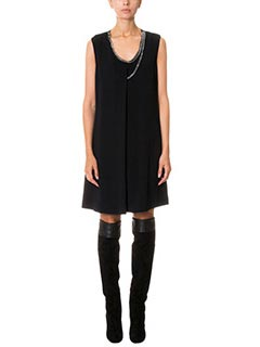 Stella McCartney-Vestito Marisa in cr�pe nera