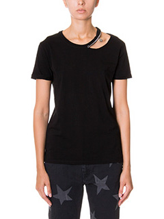 Stella McCartney-T-Shirt in cotone nero