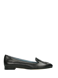 Chiara Ferragni-black leather ballet flats