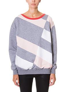 Stella McCartney-diagonal lines grey cotton sweatshirt