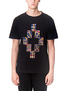 Marcelo Burlon-T-Shirt  Lastamia in cotone nero