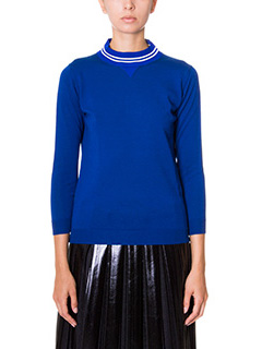 Golden Goose Deluxe Brand-Maglia Round Neck in lana blue