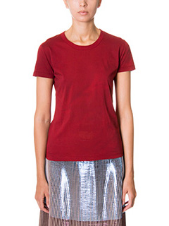 Golden Goose Deluxe Brand-T-Shirt in cotone bordeaux