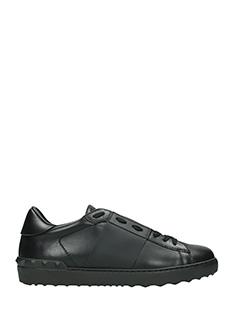 Valentino-Sneakers basse Stripe in pelle nera