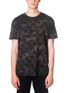 Valentino-T-Shirt Camustars in cotone verde
