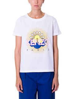 Kenzo-T-Shirt Tanami in cotone bianco