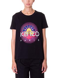 Kenzo-T-Shirt Tanami in cotone nero