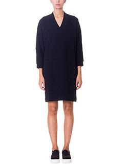 Kenzo-Vestito in felpa di cotone nero