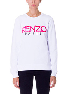 Kenzo-Logo white cotton sweatshirt
