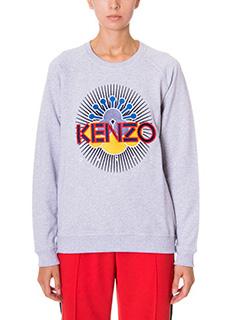 Kenzo-Felpa Tanami  in cotone grigio
