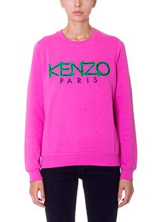 Kenzo-Logo fuxia cotton sweatshirt