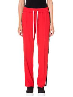 Kenzo-Pantaloni bande in cr�pe rossa