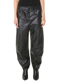 Kenzo-Pantaloni Boyfriends  in pelle nera
