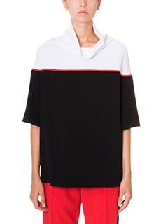 Kenzo-black crepe knitwear