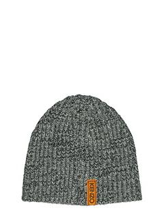 Kenzo-Cappello in lana grigia