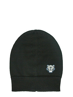 Kenzo-Cappello Knit in lana nera