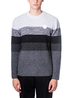 Kenzo-Maglia in lana grigia bianca