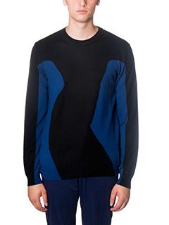 Kenzo-Maglia Lisa Knit in lana blue nero