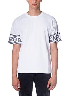 Kenzo-T-Shirt Skate in cotone bianco