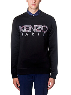 Kenzo-Felpa Kenzo in cotone nero