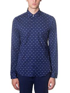 Kenzo-Camicia in cotone blue