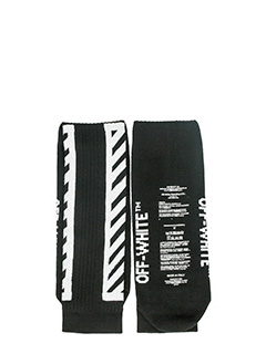 Off White-Calzini Diagonals Sock in nylon e cotone nero