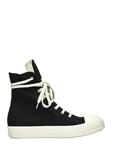 Rick Owens DRKSHDW-Sneakers in canvas nero