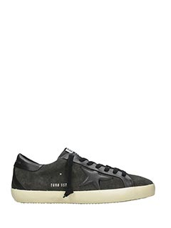 Golden Goose Deluxe Brand-Sneakers Superstar Bespoke in camoscio grigio