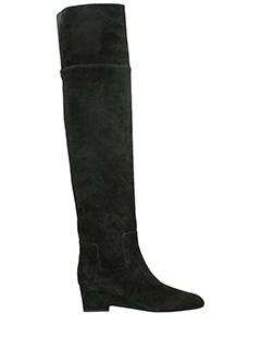 Jimmy Choo-marcie 50 black suede boots