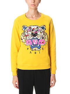 Kenzo-Tiger yellow cotton sweatshirt