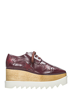 Stella McCartney-Stringate Elyse in eco pelle bordeaux