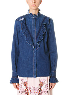 Stella McCartney-Camicia in denim blue