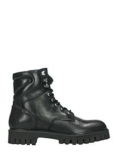 Windsor Smith-charo  black leather combat boots