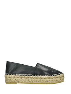 Kenzo-black leather espadrilles