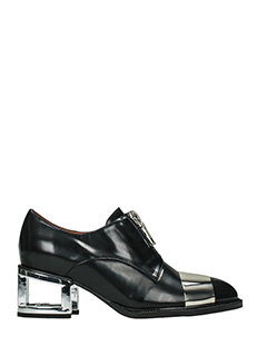 Jeffrey Campbell-kehoe black leather lace up shoes