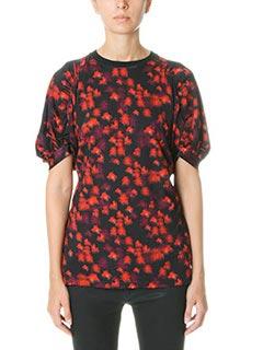 Givenchy-Magliain jersey rossa nera