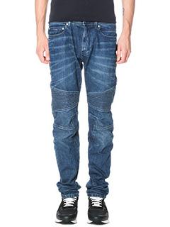 Neil Barrett-Jeans  Biker  in denim  blue