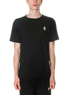 Marcelo Burlon-T-Shirt Cerro Torre in cotone nero-stampa posteriore