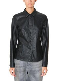 Drome-black leather shirt