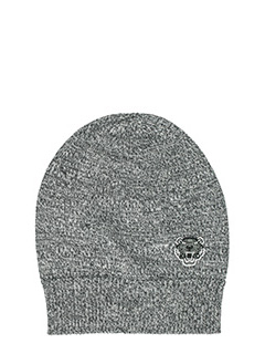 Kenzo-Cappello Knit in lana grigia